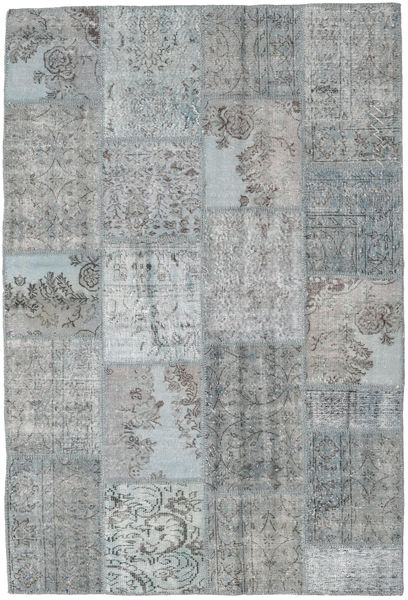 Patchwork Rug 158X234 Authentic  Modern Handknotted Light Grey/Light Blue (Wool, Turkey)