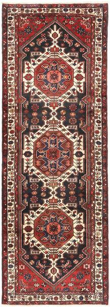 Saveh Matto 110X310 Itämainen Käsinsolmittu Käytävämatto Tummanpunainen/Musta (Villa, Persia/Iran)