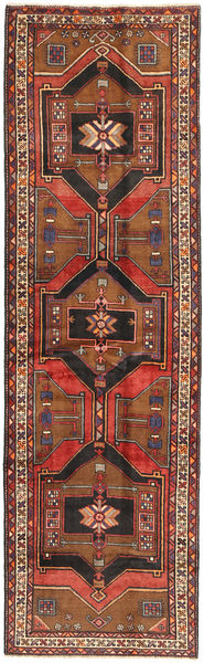 Sarab Rug 120X407 Authentic  Oriental Handknotted Hallway Runner  Dark Brown/Dark Red/Rust Red (Wool, Persia/Iran)