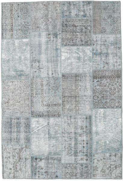 Patchwork Rug 156X230 Authentic  Modern Handknotted Light Grey (Wool, Turkey)