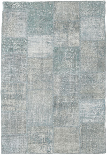 Patchwork Rug 158X232 Authentic  Modern Handknotted Light Blue/Turquoise Blue (Wool, Turkey)