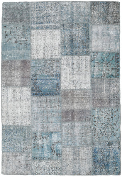 Patchwork Rug 158X230 Authentic  Modern Handknotted Light Grey/Dark Grey (Wool, Turkey)