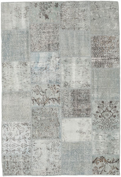 Patchwork Rug 157X230 Authentic  Modern Handknotted Light Grey (Wool, Turkey)
