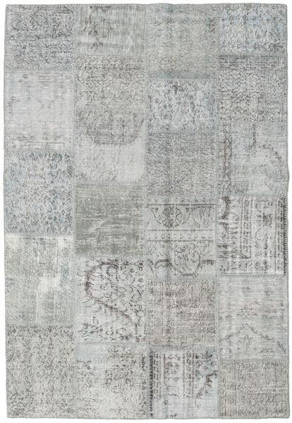 Patchwork Tapis 158X231 Moderne Fait Main Gris Clair (Laine, Turquie)