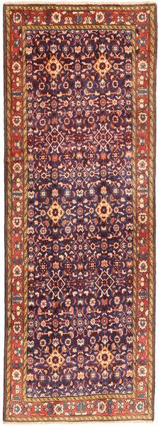 Hamadan Matto 107X300 Itämainen Käsinsolmittu Käytävämatto Tummanvioletti/Ruskea (Villa, Persia/Iran)