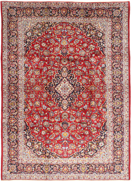 Keshan Rug 245X336 Authentic  Oriental Handknotted Dark Red/Light Brown (Wool, Persia/Iran)