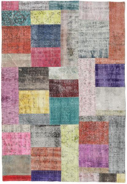 Patchwork Rug 157X229 Authentic  Modern Handknotted Light Grey/Purple (Wool, Turkey)