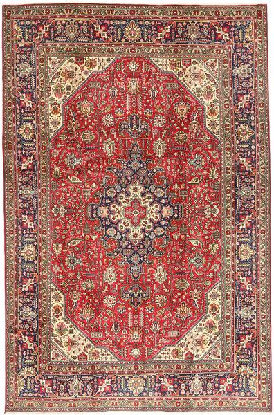 Tabriz Rug 198X300 Authentic  Oriental Handknotted Dark Brown/Dark Red/Light Brown (Wool, Persia/Iran)