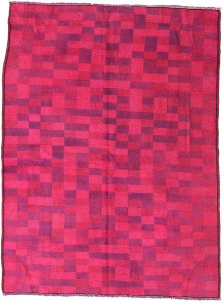 Colored Vintage Koberec 144X195 Moderní Ručně Tkaný Růžová/Červená (Vlna, Turecko)