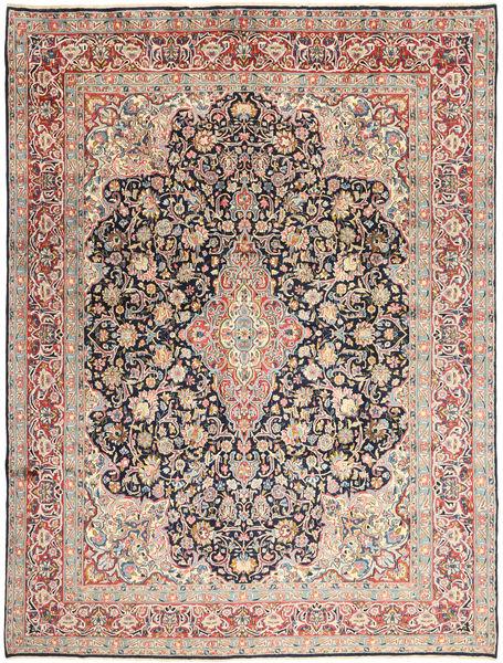 Kerman Matta 277X368 Äkta Orientalisk Handknuten Ljusgrå/Mörkbeige Stor (Ull, Persien/Iran)