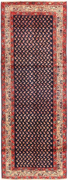 Sarough Mir Matto 108X296 Itämainen Käsinsolmittu Käytävämatto Tummanvioletti (Villa, Persia/Iran)