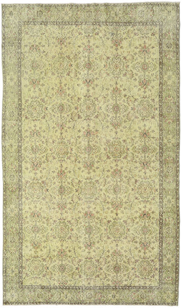 Colored Vintage Tapete 176X302 Moderno Feito A Mão Verde Claro/Bege Escuro (Lã, Turquia)