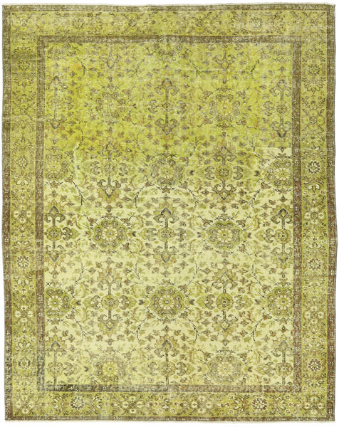 Colored Vintage Rug 168X210 Authentic  Modern Handknotted Olive Green/Yellow (Wool, Turkey)