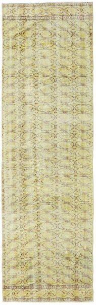 Colored Vintage Rug 82X269 Authentic  Modern Handknotted Hallway Runner  Dark Beige/Light Green (Wool, Turkey)