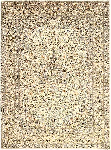 Keshan Rug 300X400 Authentic  Oriental Handknotted Light Brown/Beige Large (Wool, Persia/Iran)
