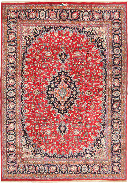 Mashad Rug 250X345 Authentic  Oriental Handknotted Rust Red/Beige Large (Wool, Persia/Iran)