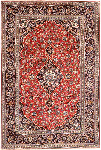 Keshan Matta 240X356 Äkta Orientalisk Handknuten Mörkröd/Roströd (Ull, Persien/Iran)