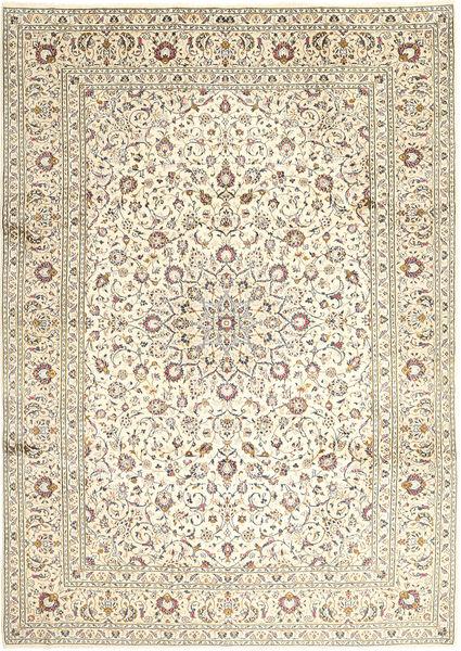 Keshan Rug 248X346 Authentic  Oriental Handknotted Light Grey/Beige/Dark Beige (Wool, Persia/Iran)