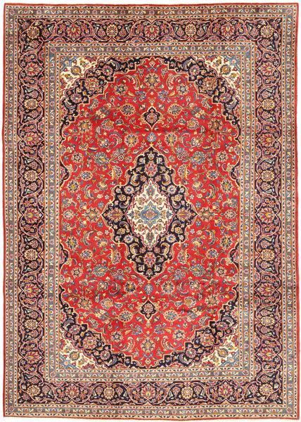 Keshan Rug 252X348 Authentic  Oriental Handknotted Rust Red/Dark Red Large (Wool, Persia/Iran)