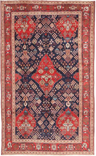 Hamadan Tapis 203X340 D'orient Fait Main Rouge Foncé/Violet Foncé (Laine, Perse/Iran)
