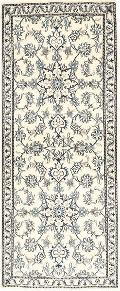 Nain Matta 80X204 Äkta Orientalisk Handknuten Hallmatta Beige/Ljusgrå (Ull, Persien/Iran)