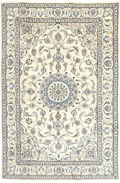Nain Tappeto 193X290 Orientale Fatto A Mano Beige/Grigio Chiaro (Lana, Persia/Iran)