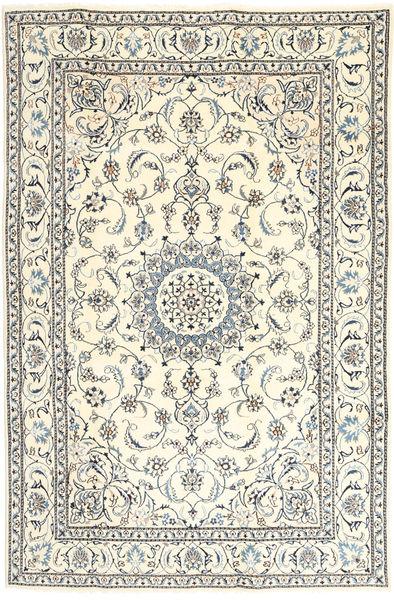 Nain Teppe 193X290 Ekte Orientalsk Håndknyttet Beige/Lys Grå (Ull, Persia/Iran)