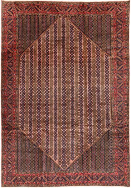 Koliai Rug 200X288 Authentic  Oriental Handknotted Brown/Dark Red (Wool, Persia/Iran)