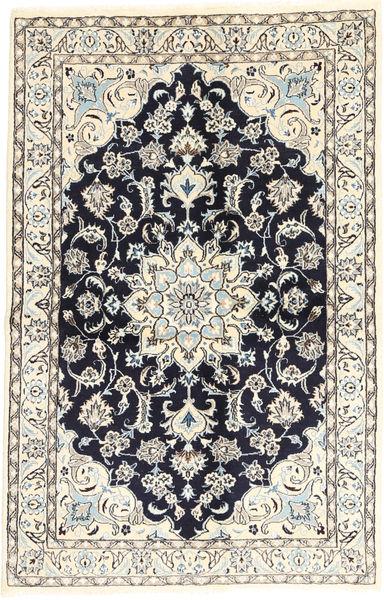 Nain Matto 129X205 Itämainen Käsinsolmittu Beige/Tummansininen (Villa/Silkki, Persia/Iran)
