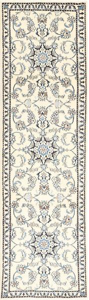 ナイン 絨毯 79X290 オリエンタル 手織り 廊下 カーペット ベージュ/薄い灰色 (ウール, ペルシャ/イラン)