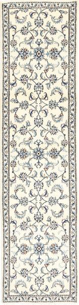 Nain Teppich  76X298 Echter Orientalischer Handgeknüpfter Läufer Beige/Hellgrau (Wolle, Persien/Iran)