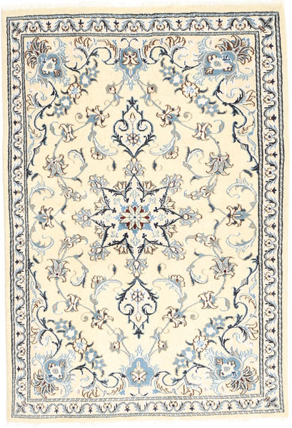 Nain Rug 97X151 Authentic  Oriental Handknotted Beige/Light Grey (Wool, Persia/Iran)