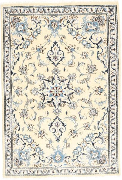 Nain Matto 97X151 Itämainen Käsinsolmittu Beige/Vaaleanharmaa (Villa, Persia/Iran)