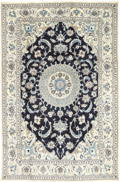 Nain Rug 198X304 Authentic  Oriental Handknotted Light Grey/Beige/Dark Grey (Wool, Persia/Iran)