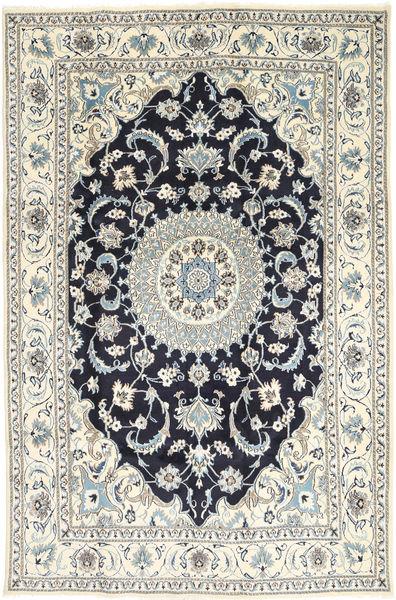Nain Rug 198X304 Authentic  Oriental Handknotted Light Grey/Beige/Dark Grey (Wool, Persia/Iran)