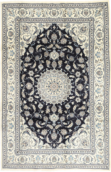 Nain Rug 201X314 Authentic  Oriental Handknotted Light Grey/Dark Grey (Wool, Persia/Iran)
