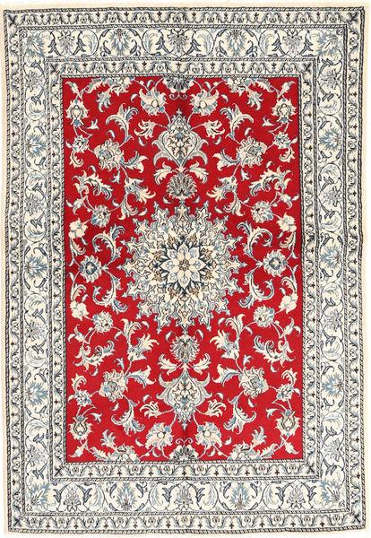 Nain Tappeto 147X214 Orientale Fatto A Mano Grigio Chiaro/Rosso (Lana, Persia/Iran)