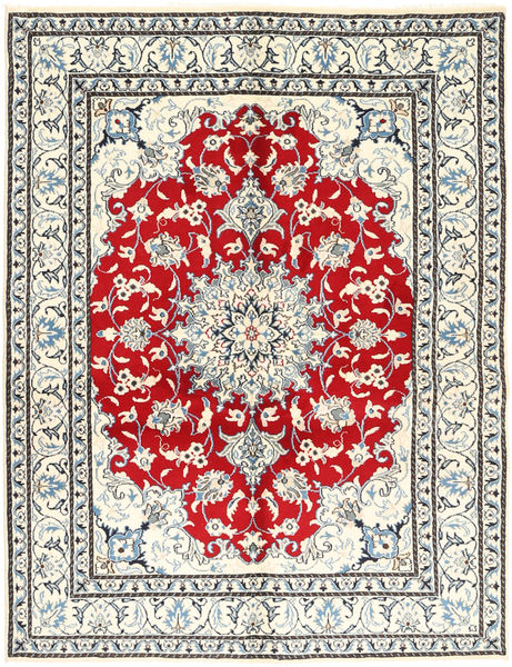 Nain Teppich  150X196 Echter Orientalischer Handgeknüpfter Beige/Hellgrau (Wolle, Persien/Iran)
