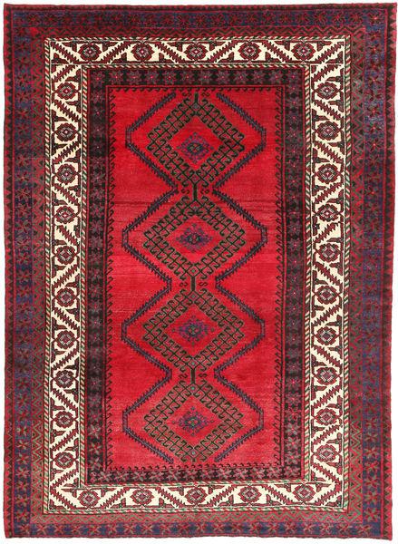 Shiraz Rug 218X300 Authentic  Oriental Handknotted Crimson Red/Dark Blue (Wool, Persia/Iran)