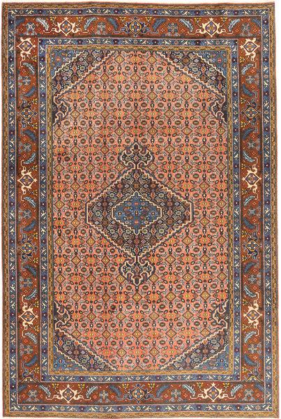 Ardebil Matto 197X293 Itämainen Käsinsolmittu Tummanruskea/Vaaleanharmaa (Villa, Persia/Iran)