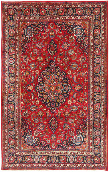 Mashad Rug 199X317 Authentic  Oriental Handknotted Brown/Dark Brown (Wool, Persia/Iran)