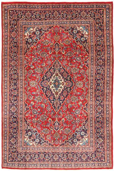 Keshan Matta 202X301 Äkta Orientalisk Handknuten Mörkröd/Ljusgrå (Ull, Persien/Iran)