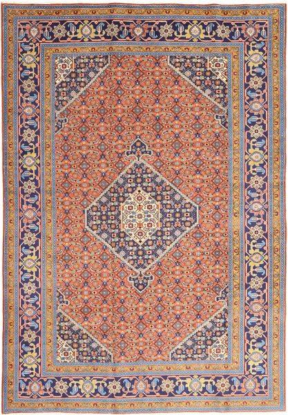Ardebil Matto 200X297 Itämainen Käsinsolmittu Violetti/Oranssi (Villa, Persia/Iran)