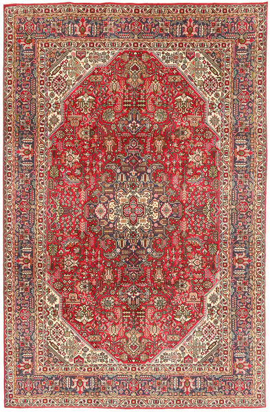 Tabriz Rug 199X300 Authentic  Oriental Handknotted Dark Brown/Dark Red (Wool, Persia/Iran)