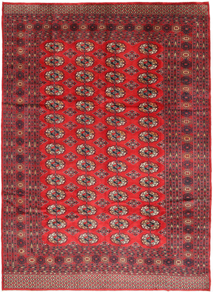 Turkaman Rug 216X295 Authentic  Oriental Handknotted Crimson Red/Brown (Wool, Persia/Iran)