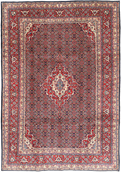 Moud Rug 216X308 Authentic  Oriental Handknotted Dark Red/Dark Purple (Wool, Persia/Iran)