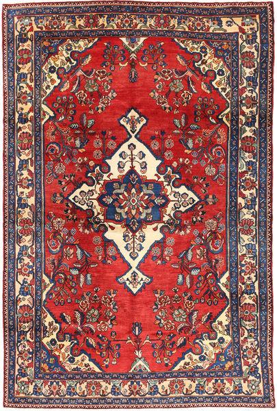Hamadan#shahrbaf Rug 205X306 Authentic  Oriental Handknotted Dark Grey/Brown (Wool, Persia/Iran)