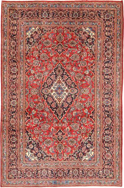 Keshan Matta 191X290 Äkta Orientalisk Handknuten Mörkröd/Roströd (Ull, Persien/Iran)