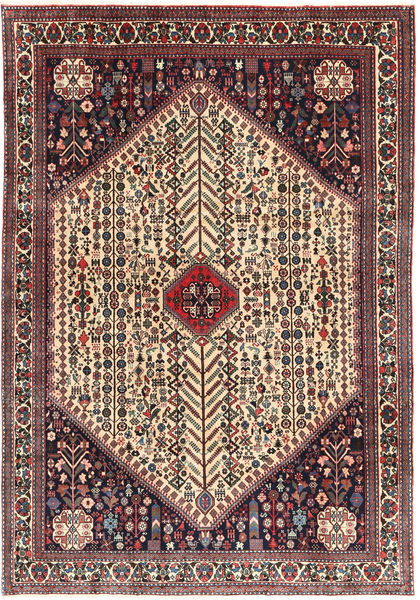 Abadeh Rug 203X298 Authentic  Oriental Handknotted Dark Brown/Dark Red (Wool, Persia/Iran)