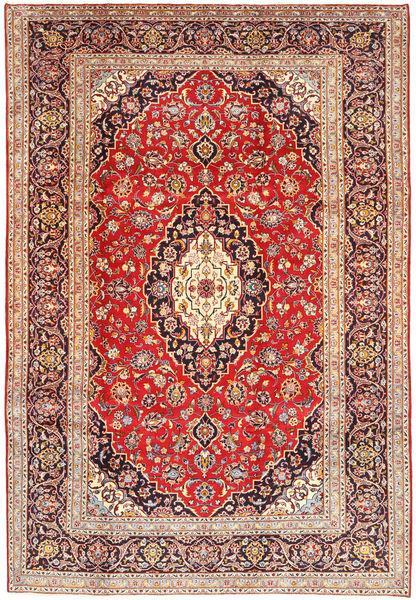 Keshan Rug 213X314 Authentic  Oriental Handknotted Brown/Beige (Wool, Persia/Iran)
